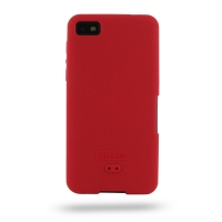 BlackBerry Z10 Luxury Silicone Soft Case (Red) PDair Premium Hadmade Genuine Leather Protective Case Sleeve Wallet