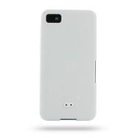 BlackBerry Z10 Luxury Silicone Soft Case (White) PDair Premium Hadmade Genuine Leather Protective Case Sleeve Wallet