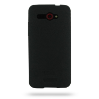HTC Butterfly Luxury Silicone Soft Case (Black) PDair Premium Hadmade Genuine Leather Protective Case Sleeve Wallet