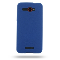 HTC Butterfly Luxury Silicone Soft Case (Blue) PDair Premium Hadmade Genuine Leather Protective Case Sleeve Wallet