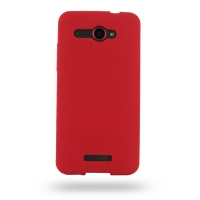 HTC Butterfly Luxury Silicone Soft Case (Red) PDair Premium Hadmade Genuine Leather Protective Case Sleeve Wallet