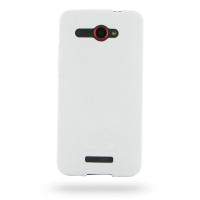 HTC Butterfly Luxury Silicone Soft Case (White) PDair Premium Hadmade Genuine Leather Protective Case Sleeve Wallet