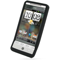 Luxury Silicone Case for HTC Hero (Black)