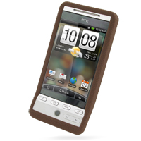 Luxury Silicone Case for HTC Hero (Chocolate Brown)