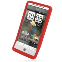 Luxury Silicone Case for HTC Hero (Red)