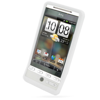 Luxury Silicone Case for HTC Hero (White)