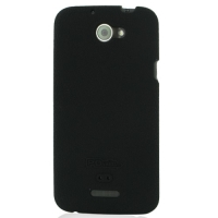 HTC One X+ Plus Luxury Silicone Soft Case (Black) PDair Premium Hadmade Genuine Leather Protective Case Sleeve Wallet