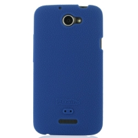 HTC One X+ Plus Luxury Silicone Soft Case (Blue) PDair Premium Hadmade Genuine Leather Protective Case Sleeve Wallet