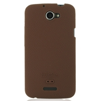 HTC One X+ Plus Luxury Silicone Soft Case (Chocolate Brown) PDair Premium Hadmade Genuine Leather Protective Case Sleeve Wallet