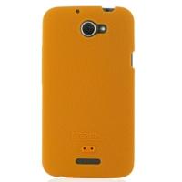 HTC One X+ Plus Luxury Silicone Soft Case (Orange) PDair Premium Hadmade Genuine Leather Protective Case Sleeve Wallet