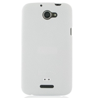 HTC One X+ Plus Luxury Silicone Soft Case (White) PDair Premium Hadmade Genuine Leather Protective Case Sleeve Wallet