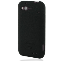 HTC Rhyme Luxury Silicone Soft Case (Black) PDair Premium Hadmade Genuine Leather Protective Case Sleeve Wallet