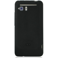 HTC Velocity 4G Luxury Silicone Soft Case (Black) PDair Premium Hadmade Genuine Leather Protective Case Sleeve Wallet