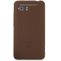 HTC Velocity 4G Luxury Silicone Soft Case (Chocolate Brown) PDair Premium Hadmade Genuine Leather Protective Case Sleeve Wallet