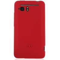 HTC Velocity 4G Luxury Silicone Soft Case (Red) PDair Premium Hadmade Genuine Leather Protective Case Sleeve Wallet