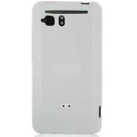HTC Velocity 4G Luxury Silicone Soft Case (White) PDair Premium Hadmade Genuine Leather Protective Case Sleeve Wallet