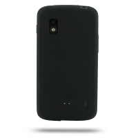 Nexus 4 Luxury Silicone Soft Case (Black) PDair Premium Hadmade Genuine Leather Protective Case Sleeve Wallet