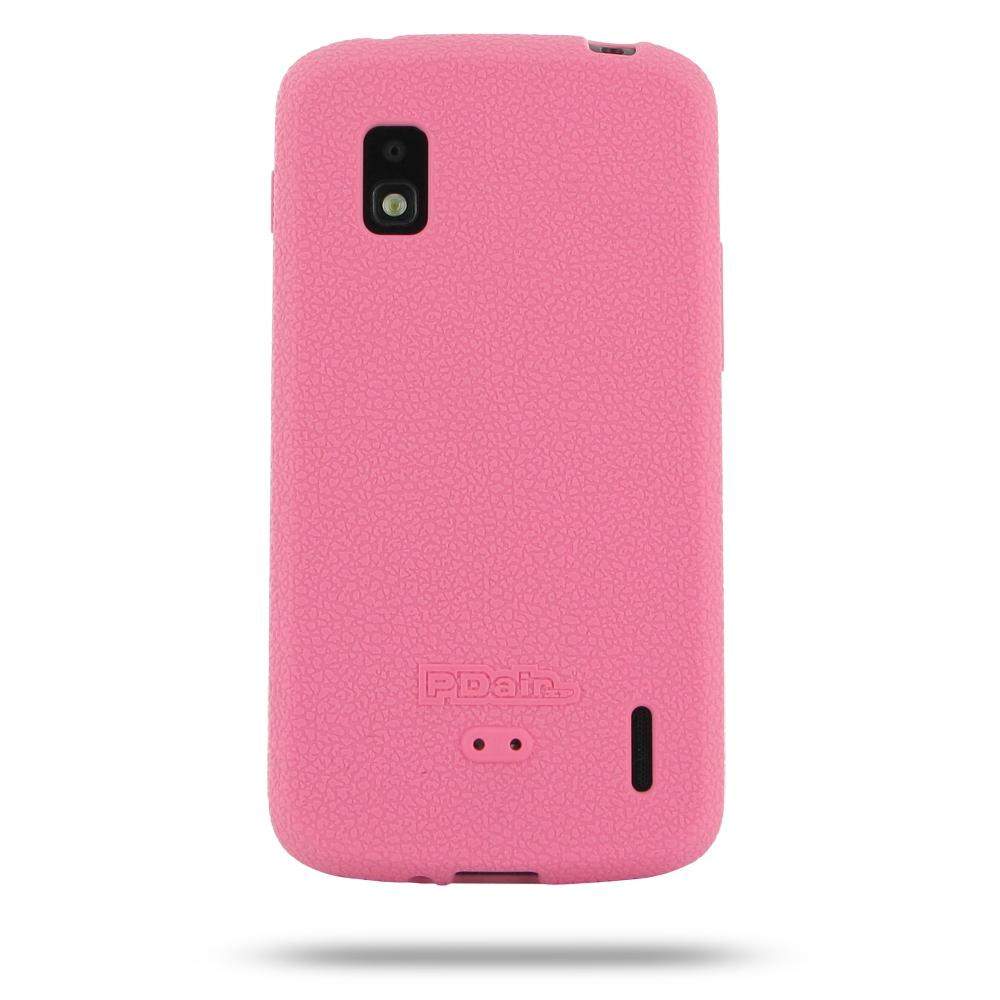 Silicon silicona funda funda para Google Nexus 4 e960 en rosa