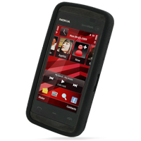 Nokia 5530 XpressMusic Luxury Silicone Soft Case (Black) PDair Premium Hadmade Genuine Leather Protective Case Sleeve Wallet