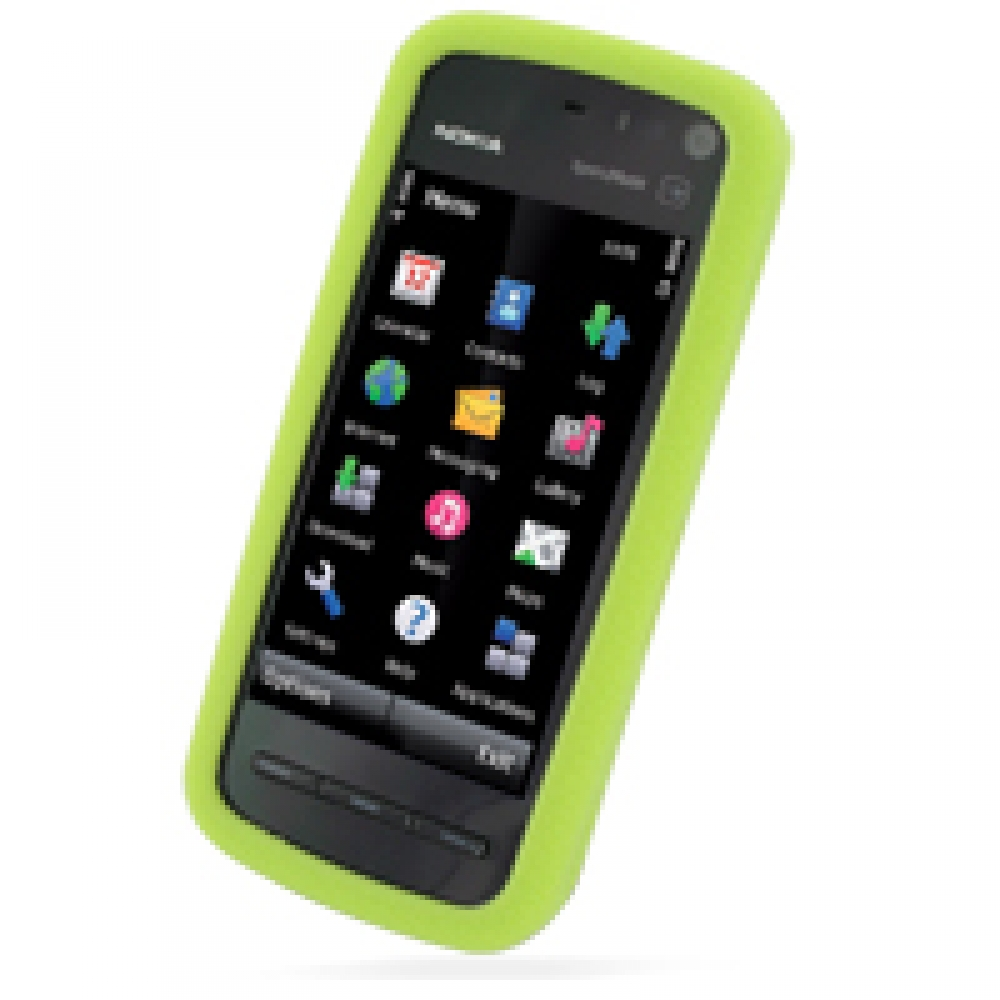 nokia 5800 xpressmusic luxury silicone soft case green. Black Bedroom Furniture Sets. Home Design Ideas