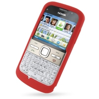 Nokia E5 Luxury Silicone Soft Case (Red) PDair Premium Hadmade Genuine Leather Protective Case Sleeve Wallet