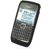 Luxury Silicone Case for Nokia E71 (Black)