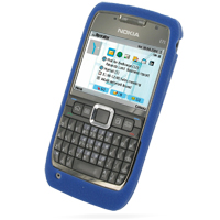 Luxury Silicone Case for Nokia E71 (Blue)