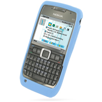 Luxury Silicone Case for Nokia E71 (Light Blue)