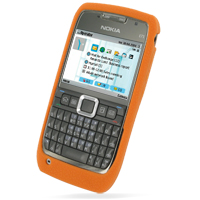 Luxury Silicone Case for Nokia E71 (Orange)