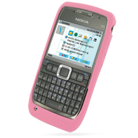 Luxury Silicone Case for Nokia E71 (Pink)