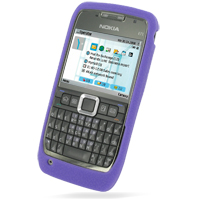 Luxury Silicone Case for Nokia E71 (Purple)