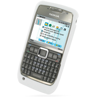 Luxury Silicone Case for Nokia E71 (White)