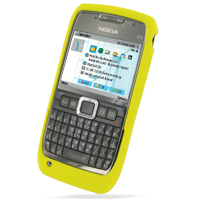 Luxury Silicone Case for Nokia E71 (Yellow)