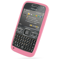 Nokia E72 Luxury Silicone Soft Case (Pink) PDair Premium Hadmade Genuine Leather Protective Case Sleeve Wallet