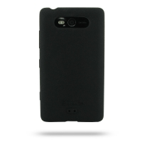 Nokia Lumia 820 Luxury Silicone Soft Case (Black) PDair Premium Hadmade Genuine Leather Protective Case Sleeve Wallet