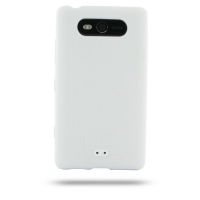 Nokia Lumia 820 Luxury Silicone Soft Case (White) PDair Premium Hadmade Genuine Leather Protective Case Sleeve Wallet
