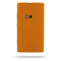 Nokia Lumia 920 Luxury Silicone Soft Case (Orange) PDair Premium Hadmade Genuine Leather Protective Case Sleeve Wallet