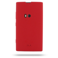 Nokia Lumia 920 Luxury Silicone Soft Case (Red) PDair Premium Hadmade Genuine Leather Protective Case Sleeve Wallet