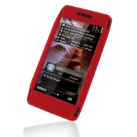 Nokia X7-00 Luxury Silicone Soft Case (Red) PDair Premium Hadmade Genuine Leather Protective Case Sleeve Wallet