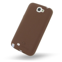 Luxury Silicone Case for Samsung Galaxy Note 2 | Samsung Galaxy Note2 | GT-N7100 (Chocolate Brown)