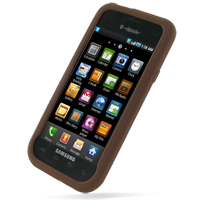 Samsung Galaxy S / Plus Luxury Silicone Soft Case (Chocolate Brown) PDair Premium Hadmade Genuine Leather Protective Case Sleeve Wallet