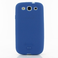 Luxury Silicone Case for Samsung Galaxy S III S3 GT-i9300 (Blue)