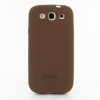 Luxury Silicone Case for Samsung Galaxy S III S3 GT-i9300 (Chocolate Brown)