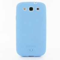 Luxury Silicone Case for Samsung Galaxy S III S3 GT-i9300 (Light Blue)