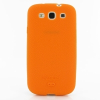 Luxury Silicone Case for Samsung Galaxy S III S3 GT-i9300 (Orange)