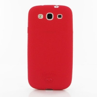 Luxury Silicone Case for Samsung Galaxy S III S3 GT-i9300 (Red)