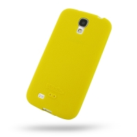 Luxury Silicone Case for Samsung Galaxy S4 SIV LTE GT-i9500 GT-i9505 (Yellow)