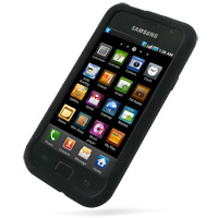 Luxury Silicone Case for Samsung Vibrant Galaxy S SGH-T959 (Black)