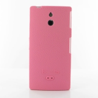 Sony Xperia P Luxury Silicone Soft Case (Pink) PDair Premium Hadmade Genuine Leather Protective Case Sleeve Wallet