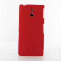 Sony Xperia P Luxury Silicone Soft Case (Red) PDair Premium Hadmade Genuine Leather Protective Case Sleeve Wallet